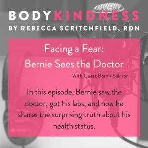 Facing a fear: Bernie sees the doctor