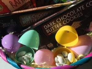 Money saving easter basket ideas blending sweets and fun with aldi you can fill eggs with southern grove yogurt covered raisins and even baby carrots and grapes for little kids to enjoy with the easter bunny negle Image collections