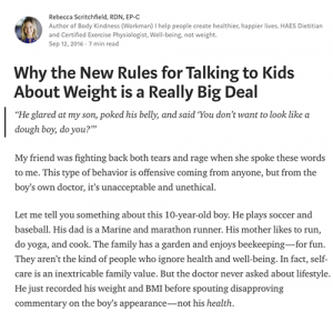 Medium: Why the New Rules for Talking to Kids About Weight is a Really Big Deal