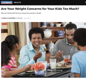 US News: Are Your Weight Concerns for Your Kids Too Much?