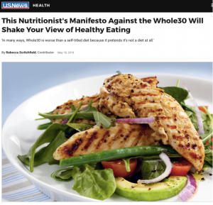 This Nutritionist's Manifesto Against the Whole30 Will Shake Your View of Healthy Eating