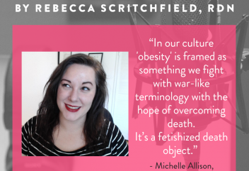 Diet Culture Exists Because We Don't Want to Die with Michelle Allison the Fat Nutritionist