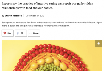 Real Simple: Intuitive Eating Is a Happier and Healthier Way to Eat—Here's How to Begin