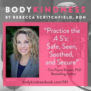 Podcast 141: How the 4 S's help you show up for kids well-being with Tina Payne Bryson, PhD Bestselling Author