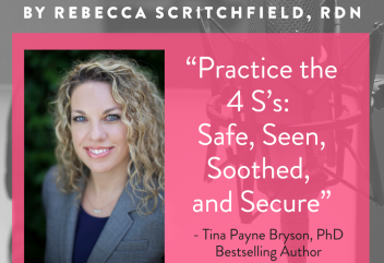 "Podcast 141: How the 4 S's help you ""show up"" for kids well-being with Tina Payne Bryson, PhD Bestselling Author"