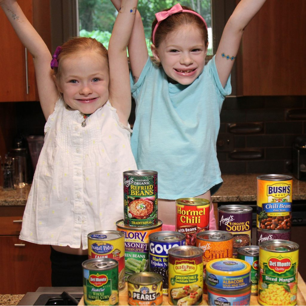 Rebecca's kids excited to cook with cans